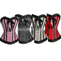 Overbust Corset Dress Plus Size S M L XL 2XL 3XL 4XL 5XL 6XL Sleepwear Sexy Women Lace Tops Steel Bustier Lingerie Lady Corselet