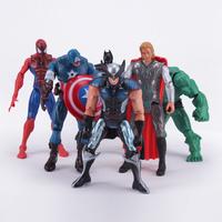 "The Avengers Captain America Wolverine Thor Spiderman Batman PVC Action Figures Super Heroes Toys 6"" 14CM 6pcs/set Free shipping"