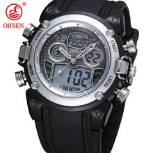 2014 nueva OHSEN marca alarma de día reloj deportivo hombres niños Rubber Band reloj Digital Display buceo militar relojes para el regalo