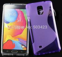 Galaxy Note 4 TPU Case, New S Line Soft TPU Gel Skin Cover Case For Samsung Galaxy Note 4