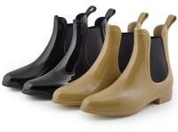 2014New Wholesale Fashion Short  U style  elastic band Pvc Rain Boots For Women ,Motorcycle Boots US5#-10#