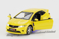 1:32 Scale Alloy Diecast Metal Car Model For HONDA CIVIC Type R Collection Pull Back Car Toys With Sound&Light- Yellow/Red/White