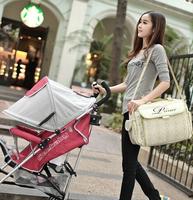 Good quality multi-function baby bag, diaper bag 420 D environmental protection, waterproof pram bag. Diaper bag backpack