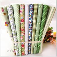 green 40CMx40CM 10 Designs mixed Cotton Fat Quaters Tilda cloth Quilting scrapbooking Patchwork Fabric Woven patchwork  quilt