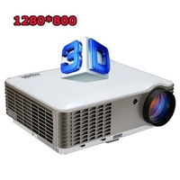 Home Theater Multimedia 3D projector 4500 Lumens HDMI LED PROJECTOR HD 1080P 1280*800