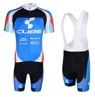 New 2014 cycling jersey full zipper / cycling clothing Shirt+bib short men women set breathable quick dry Wholesale Summer S-3XL