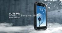 Outdoor Sports Partner Love Mei Dust-proof Waterproof Shockproof Gorilla Glass Metal Phone Protection Case For S3 III I9300
