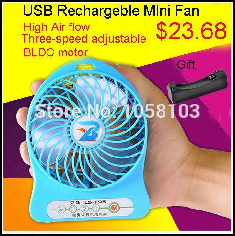 Redstar usb mini ventilateur ventilateur batterie rechargeable 18650 débit d'air élevé vitesse de camping en plein air tente 3 bureau. bébé. étudiant ventilateur portatif