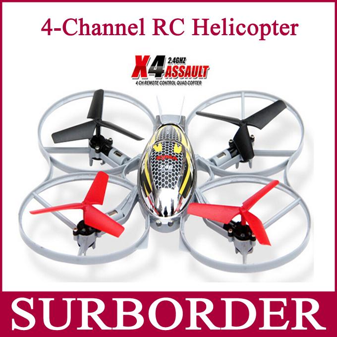 Syma x4 4ch 2.4 GHz tiro volo rc elicottero telecomando Quad Copter giocattolo 2 modalità 360 eversione