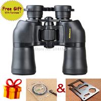 Promotion Free Gift  Hot Sale 10X50  Powerview Porro Prism Binocular Optical Binocular Telescope binocular LLL night vision 100%