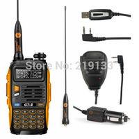Baofeng GT-3 Mark II + Speaker+ USB Cable Kit V/U amateur radio
