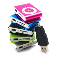 Hot new 2014 MINI MP3 Player Clip type with usb line without earphone memory card mp3 music player