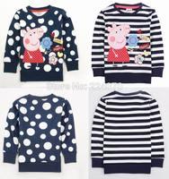 New Cute Peppa Pig Children Kids Clothes Girls Peppa Pig Clothing Girls T Shirt Chlloe Pig NOVA kids girl t shirt Free Shipping