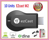 10pcs EZcast M2 chromecast support ios+android+windows with DLNA+Miracast+EZcast function