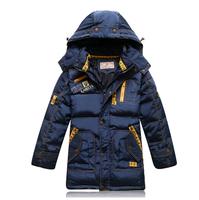 2014 winter children boys down jacket coat brand design medium long zipper white duck parkas thick warm coat with a hooded