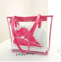 2014 big women bag transparent casual-bag lip tote bag FREE SHIPPING ljf