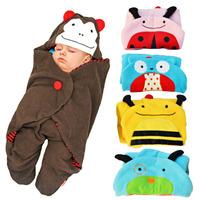 Newborn Baby kids cute Blanket infantil cobertor animal style bebe envelopes swaddle aden anais baby Wrap manta sleepping bag