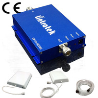 NEW Signal Cell Phone Signal Booster 3G GSM2100MHZ RF Repeater 2100 Mobile Signal Amplifier Set Russian Free Shipping