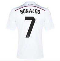 2014 Top Thailand Quality Real Madrid Jersey 14 15 Ronaldo Marcelo Bale Benzama football shirt 2015 Real Madrid pink Jersey