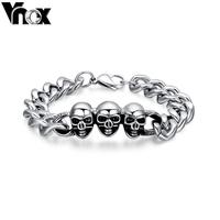Cool  fashion skull bracelets & bangles men jewelry