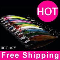 Minnow Fishing Lures Japan DeepSwim Saltwater Hard Bait 11CM 13.5G Artificial Baits Minnow Fishing Spoon Wobbler Pesca 10PCS