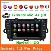 2 Din android 4.2 Car Dvd Automotivo GPS For Toyota Prius+Gps Navigation+Central Multimedia+Audio+Radio+Autoradio Car Styling