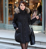 2014 New Army Green/black Ladies Thick Military Style Goose Down Jacket Parka Women's Winter Coats Outwear Plus Size 5XL JXN0035