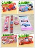 2015 new girl pencil case set.pencile,eraser,case set.school supplies.cartoon kids bag.girl pencil bag.school supplies set