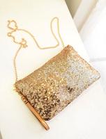2014 summer women bag spangle day clutches chain messenger bag evening bag clutch bag free shipping