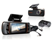 A1 Allwinner Dual Camera Car DVR FullHD 1080P Dash Cam with 2 Cameras, 2.7 inch LCD Screen, Night vision, 170 Degree Wide Angle