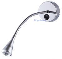 S035A SWITCH 3W Flexible arm light LED wall light LED reading light LED gooseneck light