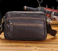 Free shipping    men's   genuine leather   handbag   shoulder  bag