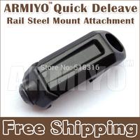 Armiyo QD Rail Steel Swivel Mount Hunting Quick Deleave Attachment For Tactical Multi Mission Camera Binoculars Sling Black