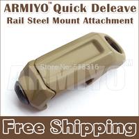 Armiyo Quick Deleave 20mm Rail Steel Sling Attachment Mount Retaining clip Flashlight Laser Binoculars Dark Earth Free Shipping