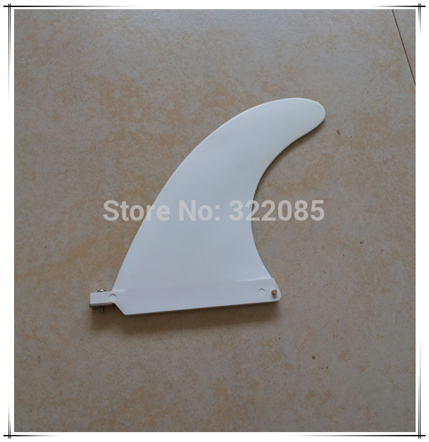 """8"""" plastic white center fin surfboard /surf/surfing fin(China (Mainland))"""