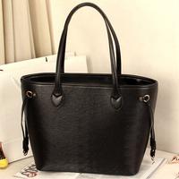 free shipping 2014 PU leather water weave brand woman neverfull EPI handbag and purse women's foldable bag shoulder shopping bag