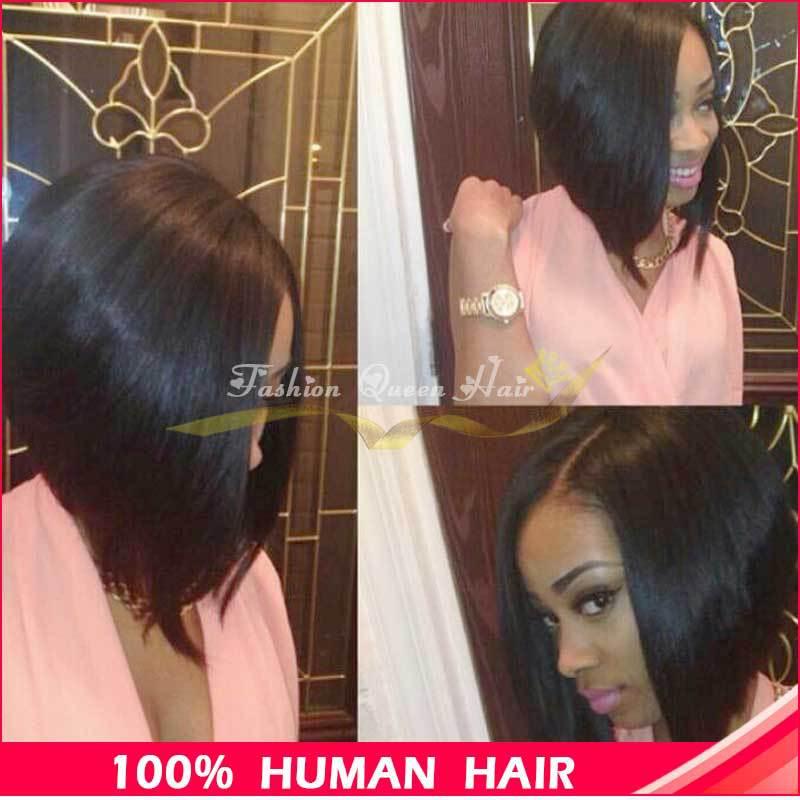 Bob Cut Human Hair Wigs for Black Women