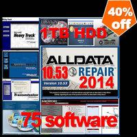 Big promotion 75in 2014 alldata+mitchell +tecdoc+ ESI+ ATSG+ ETKA 7.4+Transmission+vivid+ELSA 4.1+BENZ EPC+WIS+ med& heavy truck