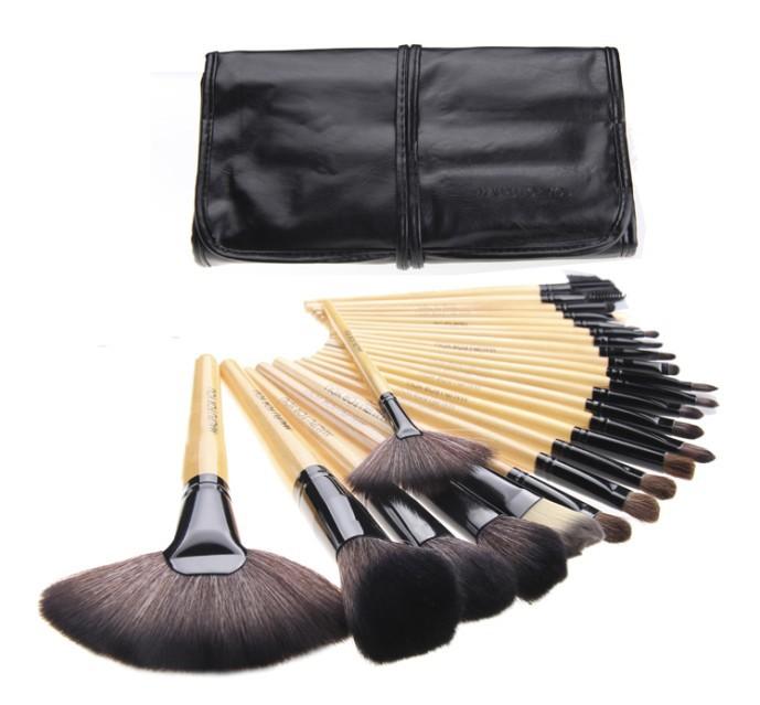 free shipping!24 pcs Professional Makeup Brushes set & New 2014 brand makeup Cosmetic Brushes & Make up Brushes Makeup Brush Kit(China (Mainland))