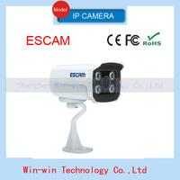 2014 ESCAM ONVIF 720P 1.0 Megapixel HD Network 3.6mm lens,waterproof p2p cloud ip camera IR-Bullet Security Camera in hot sale
