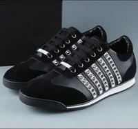 Top quality men's DSQ fashion  D2 sneakers genuine leather shoes