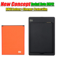 100% Original Xiaomi Redmi Note battery Xiaomi Redmi Note 4G battery Battery + charger+ normal Redmi Note protector film