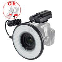 New MRC250 232pcs LED Macro Ring Light 1400LM + battery pack for Camera P0004342 Free Shipping