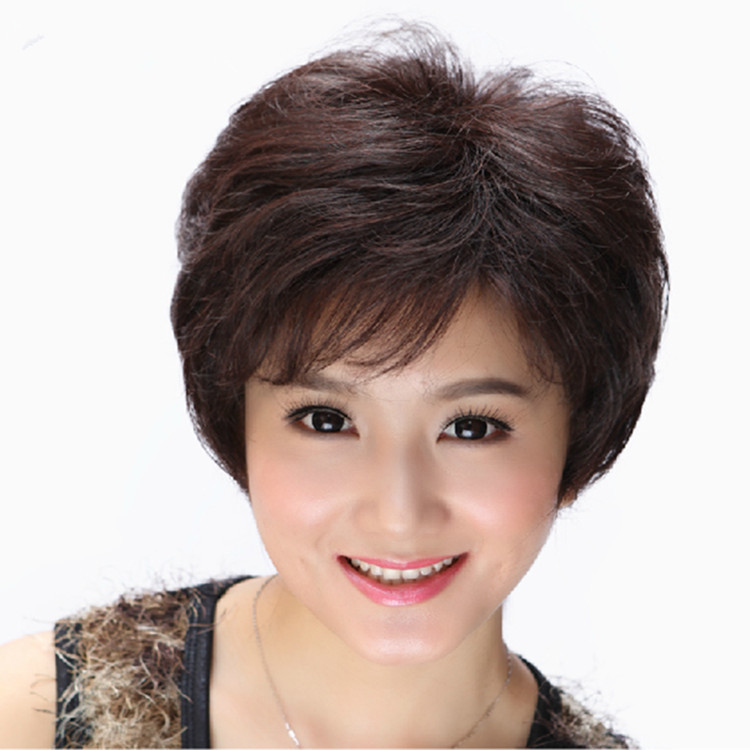 New Arrival Korean Fashion Natural Color Capless Curly Synthetic Wig Short Hair Wigs Women's Periwig(China (Mainland))
