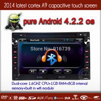 2014 New 2 Din Android 4.2.2  Car Video DVD GPS Player  For VW Volkswagen Golf 5 Jetta Passat B5