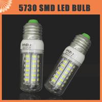 220V 110V SMD 5730 E27 E14 G9 LED Bulb 9W 10W 12W 15W 20W LED bulb lamp 24 LEDs 36LEDs 48LEDs 56LEDs,Warm white/white Corn Bulb
