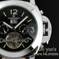 2014 New Watches Men Tourbillion Day Square Automatic Mechanical Watch Wristwatch+Gift Box Free Ship