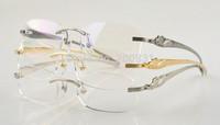 Eyeglasses Frames Unisex Rimless Pure Titanium Optical Glasses Frame with Detail Packing Women Eyeglasses Frame Men Eey Frame