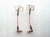 90 Degree High Precision 5.8GHz 5945MHz Ch8 Circular Polarized Antenna Pair - SMA Plug