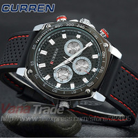 2014 New Fashion Men Sports Watches Luxury Brand Japan Quartz Movement Silicone Strap Men Military Wrist watch Men's Watches